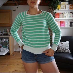 Sweaters - Green Striped Sweater